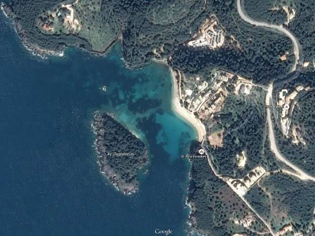 google maps Beach Agia Paraskevi photo