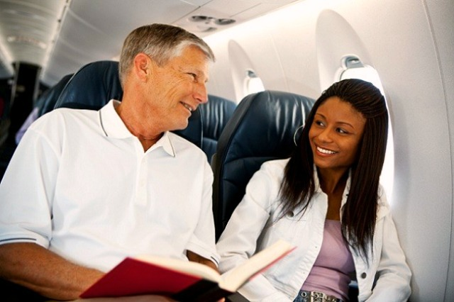 Passengers talking