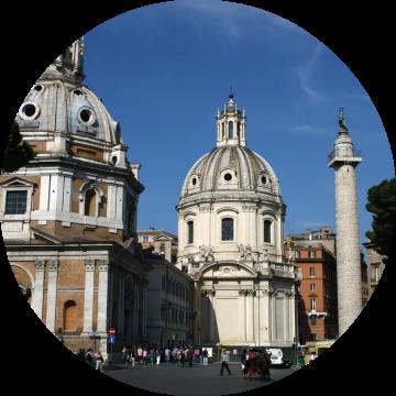 Santa Maria di Loreto, Trajan's column