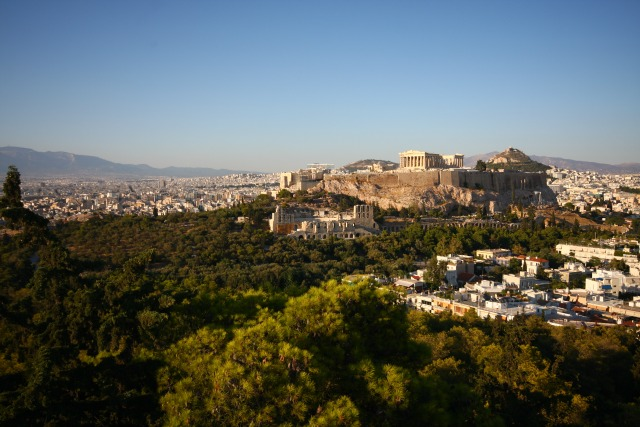 acropolis view from Filopappou hill