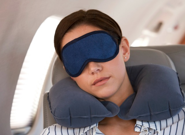 Sleeping during flight