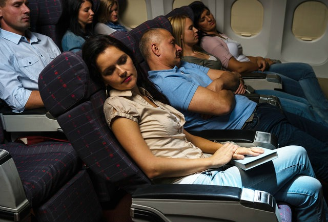 Sleeping on airplane