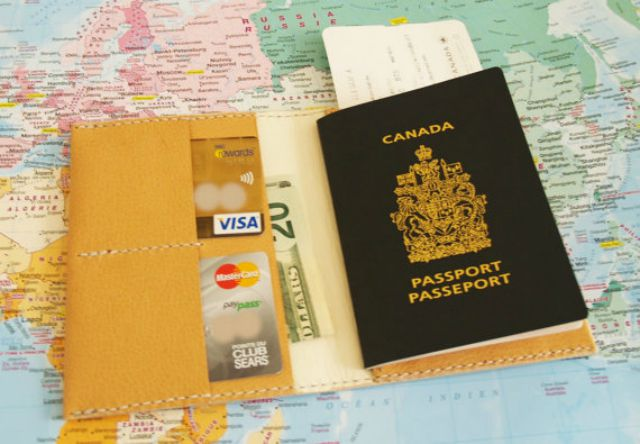 Money, passport, cards
