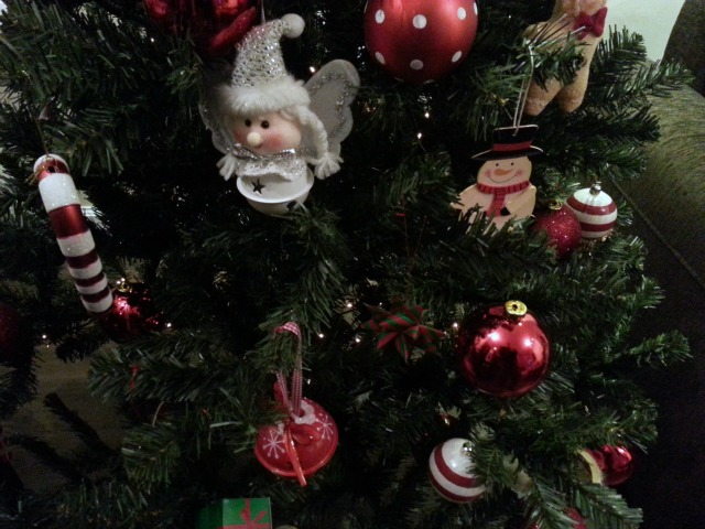 Christmas tree, ornaments